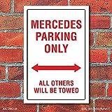 Schild American Style Deko Mercedes parking Parkverbot, 300 x 200 mm