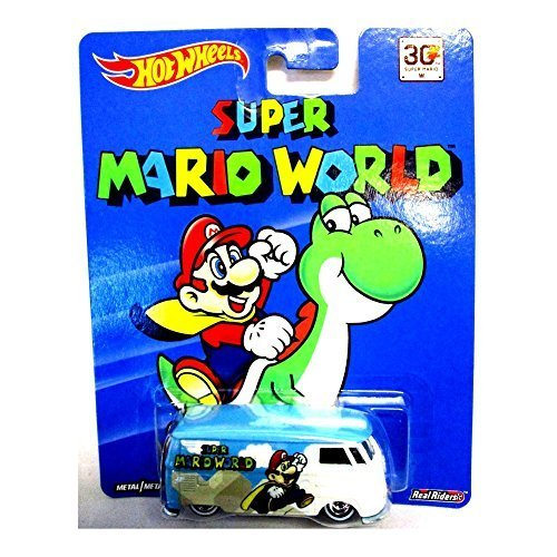 HOT WHEELS SUPER MARIO WORLD VOLKSWAGEN T1 PANEL BUS NEW RARE REAL RIDERS by Hot Wheels (Volkswagen T1 Panel-bus)