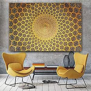 QianLei Baum des Lebens von Gustav Klimt Landschaft Wandkunst Leinwand Skandinavisch Poster und Drucke Moderne Wandkunst Bild f/ür Wohnzimmer-60x120cm ohne Rahmen