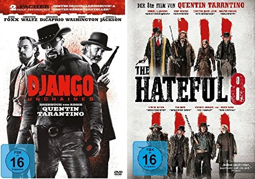 Quentin Tarantino Western-Set mit Django Unchained und The Hateful 8 - Deutsche Originalware [2 DVDs]