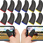 DELFINO 30 Pieces Finger Sleeves for Gaming Mobile Game Controllers Finger Thumb Sleeves Set, Anti-Sweat Breat