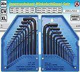 BGS - 810 - Innensechskant-Winkelschl�sselsatz, 30-tlg., Zoll + metrisch