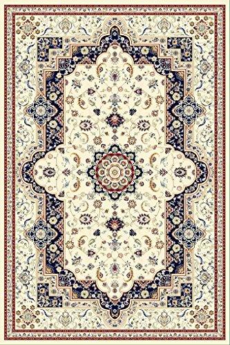 Orientteppich , 160x230 cm, Schurwolle, Beige !!! (160 x 230 cm, blau)