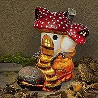 Solar Powered Mushroom Top Boot Fairy House Home Dwelling