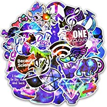 50 Unds friki pegatinas stickers purpuras diseños distintos modelo 6 mix para patinetes, mandos consola