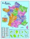 CBG Carte Administrative Routière et Dom-Tom murale Pelliculée 66 x 84,5 cm 4 œillets pour suspension Multicolore...