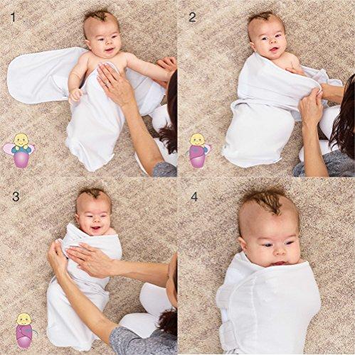 Juicy Bumbles Baby Pucksack Wickel-Decke - 3er Pack Universal Verstellbare Schlafsack Decke für Säuglinge Babys Neugeborene