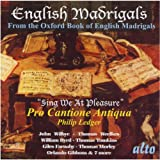 Various: English Madrigals, Sing We At Pleasure