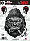 LETHAL THREAT Motorcycle Bike Car Laptop Sticker Decal for Outdoor Use SMOKING GORILLA LT88117