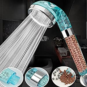 Alcachofa de ducha, Filtración en spray, filtro iónico, cabezal de ducha de mano, ahorro de agua para el baño, As Picture Show, 6 cm