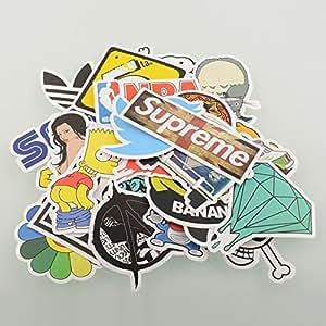 Cool Fashion Laptop Skateboard Snowboard Vintage vinyle autocollant Graffiti bagages Car Bike vélos Stickers Autocollant - couleur aléatoire