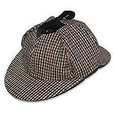 Herren Mütze aus Tweed im Jäger Sherlock Holmes Stil Countrymütze - Mehrfarbig, 59