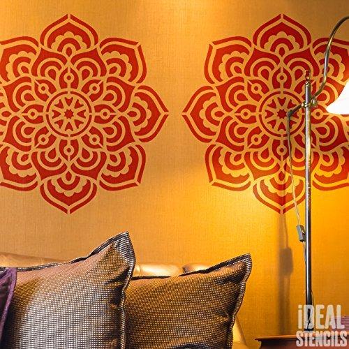 Schablone wiederverwendbar Heim Wand Dekor , Kunst & Handwerk Schablone Wandfarbe Stoffe & Möbel - semi transparent Schablone, M/ 26X26CM (Schablone Wand-kunst)