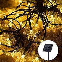 LOHAS Solar String Lights 5M, 40 0.8W 35LM LED Waterproof Warm White Snowflake Solar String For Outdoor DEcoration, Wedding Light, Backyard Light, Christmas Decoration Lights, Solar Powered Lights, Outdoor Bright Lights