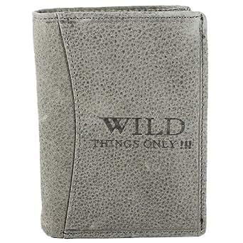 Bag Street Herren Geldbörse Geldbeutel Portemonnaie Leder WILD, Farbe:Grau