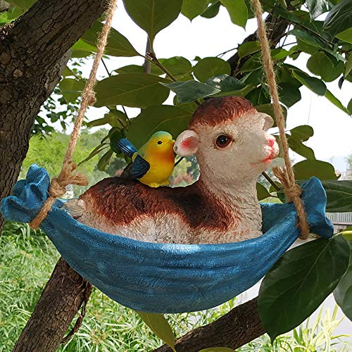 OYBB Ornaments Statues Lamb Small Animal Swing Swing Aerial Ornaments Shop Mall Garden Garden Decorations Branches Wall Ceiling Pendant