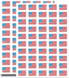 Supertogether Boîte de 100, 31x20mm, Stickers USA Flag Etats-Unis d'Amérique auto-adhésives