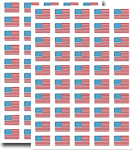 Supertogether Big Value 100-Pack Stars and Stripes USA Flag Stickers