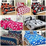 Best Home Fashion Designs Home Fashion Pillows - Fashion Hub™ Glace Cotton Double Bedsheet Set of Review