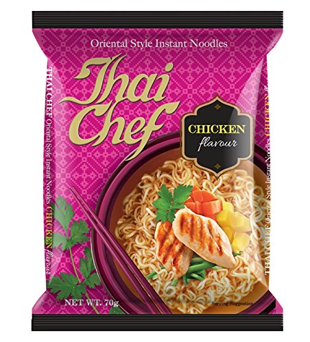 Thai Chef Oriental Style Instant Noodles, Chicken, 70g (Pack of 3)