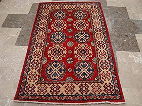 Super Kazak Caucasion Geometric Veg Dyed Mahal Rectangle Rug Hand