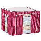 Dexinx Koffer Organizer Taschen Reise Kleidertaschen Packing Cubes für Kleidung Tragbar Steppdecke Organizer Tasche Rot 22L