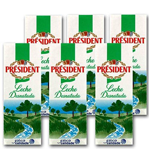 president-leche-desnatada-pack-6-x-1-l-total-6-l