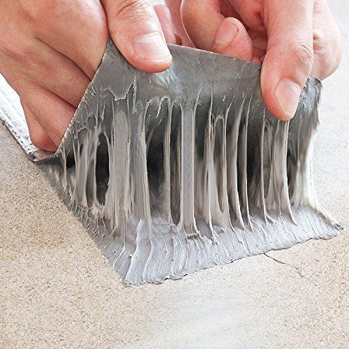 """Butyl-klebebänder Rubber Rv Bedachung Abdichtung Dichtstoff, unterwasser kleben, dichtung spüle mit Aluminiumfolie Abdeckung (2\"""" Breite x 16ft Länge)"""