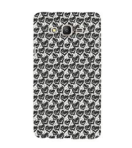 99Sublimation Modern Art Design Pattern with Lot Of small heart 3D Hard Polycarbonate Back Case Cover for Samsung Galaxy On5 :: Pro
