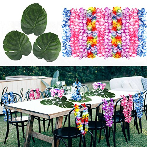 Aytai-48pc-351X289cm-suaves-hojas-de-palma-artificiales-y-collares-de-flores-hawaianas-para-Hawaiian-Tropical-Garden-BBQ-Jungle-Beach-Summer-Tiki-Party-Supplies
