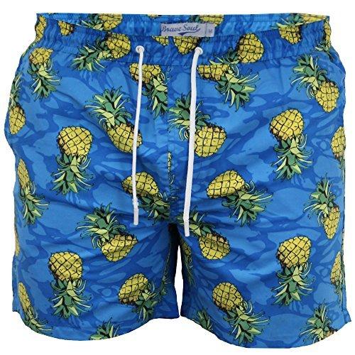mens-brave-soul-shorts-pineapple-blue-medium