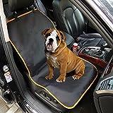 laamei Cubierta de Asiento de Coche para Perro Impermeable Universal de 1 Plaza Funda Protector de Copiloto Asiento para Mascotas Perros(107x56cm)