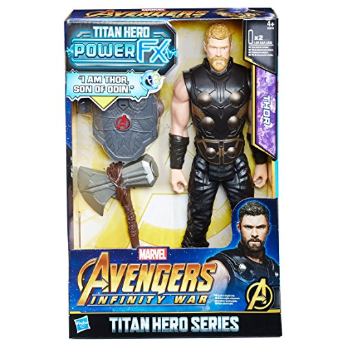 Hasbro Avengers E0616EW0 - Marvel Titan Hero Thor Actionfigur, mit Power FX Pack - Action Figur Thor