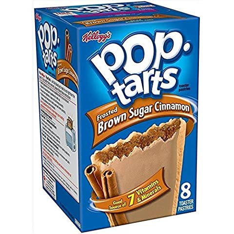 Kelloggs Pop-Tarts Blueberry Cherry Raspberry Chocolat Smore Cookies and Creme Cinamon Rolls Chip Confetti Cupcake Brown Sugar Fugde Sunday Grape Strawberry (Brown Sugar Cinnamon Frosted)