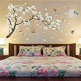 LETAMG Pegatinas de pared 187 * 128 Cm Tamaño Grande Árbol Pegatinas De Pared Flor Decoración para El Hogar Fondos De Pantall