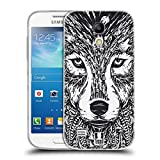 Head Case Designs Wolf Tiergesichter Doodle Soft Gel Hülle für Samsung Galaxy S4 Mini I9190