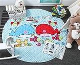 Einhorn Kinder Babys Straßenkarte Baumwolle Frühling Outdoor Wasserdicht Strand Krabbeldecken| Spielbögen| Spielmatte| Spielteppiche für Kinderzimmer (Wal)