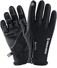 su-luoyu Winter Outdoor Touchscreen Handschuhe Wasserdicht Winddicht Warm Bleibe Handschuh, Vlies Sport Bergsteigen Skifahren Handschuhe, Fahrrad Motorrad Handschuhe