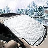 MATCC Protector de Parabrisas Cubierta de Nieve y de Sol Antihielo Funda de Parabrisa Universal para Coche