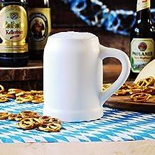 Boccale da Birra Monaco in ceramica 17.5oz/0,5litri, in confezione regalo Boccale di birra tedesca con manico
