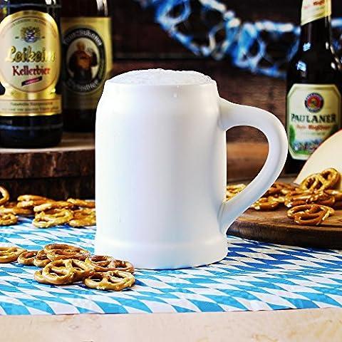 Munich Beer Stein en céramique 17.5oz/0,5litre–Boîte Cadeau Allemand Chope de bière avec poignée