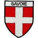 Toppa a Forma di Stemma Ricamato, per Zaino, Bandiera della Savoia