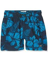 Billabong All - Shorts de baño para niño, Niño, color azul marino, tamaño 14 años