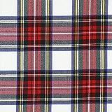 Fabulous Fabrics Schottenkaro Tartan Karo Groß – Weiss