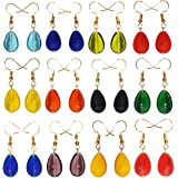SAHVI HANDICRAFTS Earrings Combo Of 12 Pairs Girls/Women's Multicolor Glass Gold Plated Drop Ear Rings Combo Set For Women An