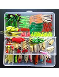 SHUNING Appât Set Artificielle dur Leurre Souple Minnow Cuillère Deux-couche Fishing Tackle Box pour les Amateurs de Pêche