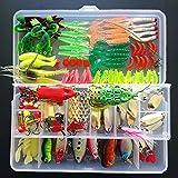 SHUNING Appât Set Artificielle dur Leurre Souple Minnow Cuillère Deux-couche Fishing Tackle Box pour les Amateurs de Pêche (139pcs)
