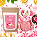 Ohayo! Glow Face Pack 100gm | Rose Petals, Orange Peel | 100% Natural | Instant Party Look | 100% Organic | No Chemicals, No