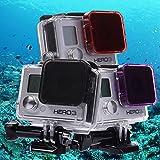 QUMOX Unterwasser-Tauchen Lila Magenta Red ND Abdeckung Filter für Gopro HERO 3