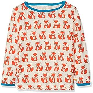 loud + proud Jungen Langarmshirt Shirt Druck, Orange (Sunrise Su), 128
